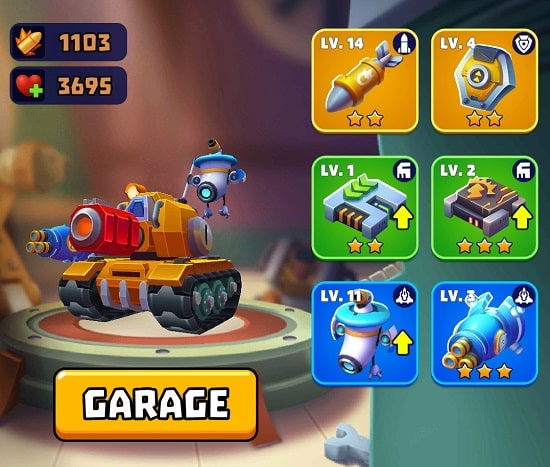 Upgrade Tank in Tank Hero