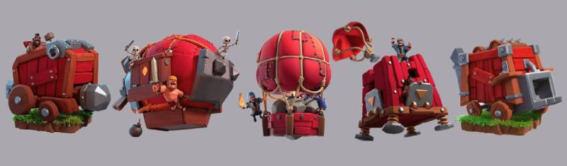 Siege Machines in Clash of Clans